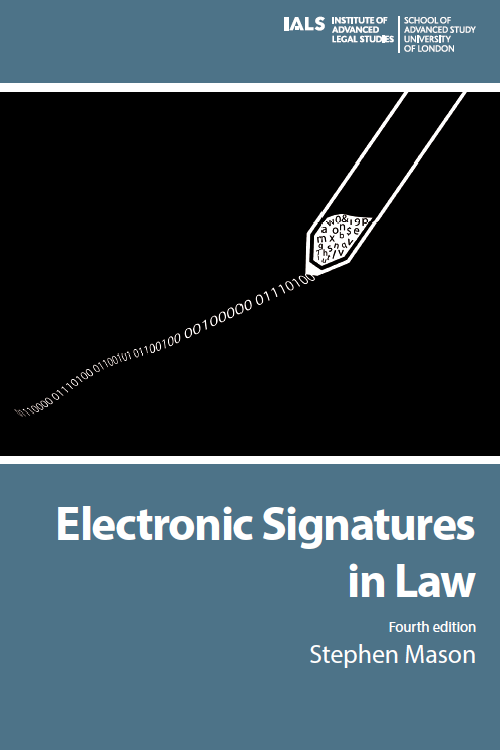 Cover for  Electronic Signatures in Law: 4th Edition